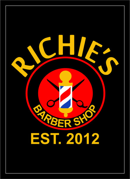 Richies barber shop §-2.92 X 4 Luxury Berber Inlay-The Personalized Doormats Company