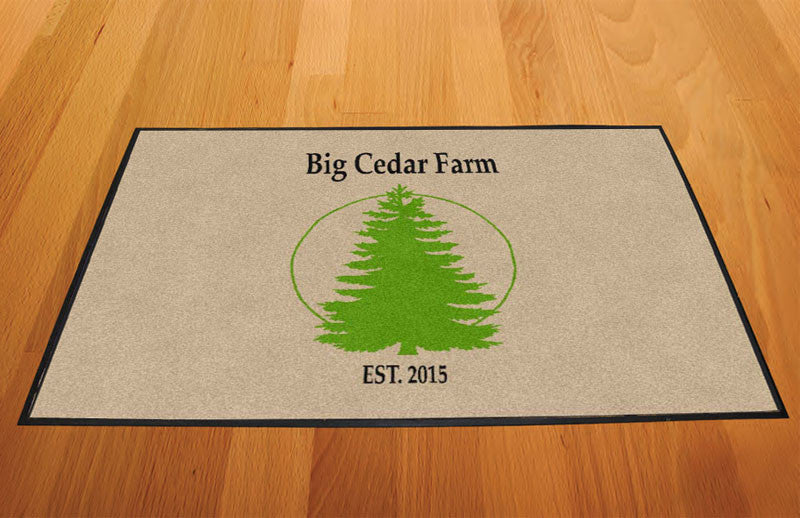 Big Cedar Farm 2 X 3 Rubber Backed Carpeted HD - The Personalized Doormats Company