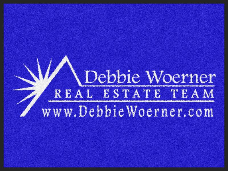 Debbie Woerner Team 3 X 4 Rubber Backed Carpeted - The Personalized Doormats Company