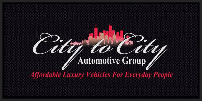 City To City Automotive Group 4 X 8 Rubber Scraper - The Personalized Doormats Company