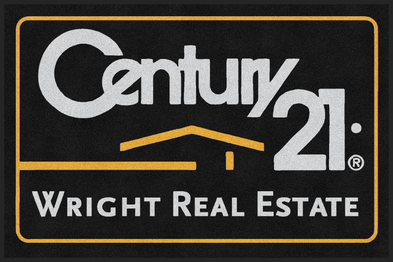 Century 21 Wright Real Estate 4 X 6 Rubber Backed Carpeted HD - The Personalized Doormats Company