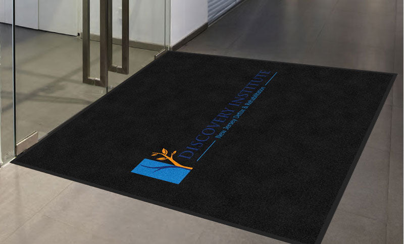 discovery institute 5 X 5 Rubber Backed Carpeted HD - The Personalized Doormats Company