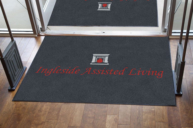 Ingleside Assisted Living 4 X 6 Rubber Backed Carpeted HD - The Personalized Doormats Company