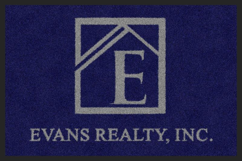 Evans Realty 2 X 3 Rubber Backed Carpeted - The Personalized Doormats Company