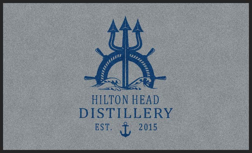 Hilton Head Distillery 3 X 5 Rubber Backed Carpeted HD - The Personalized Doormats Company