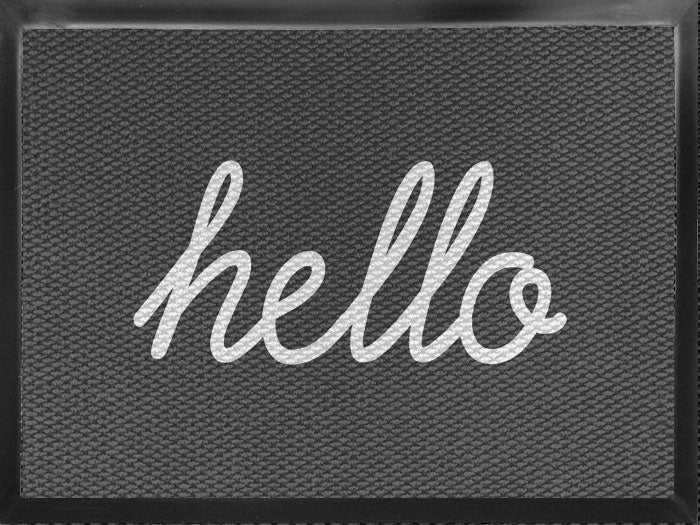 hello 4.5 X 7 Luxury Berber Inlay - The Personalized Doormats Company