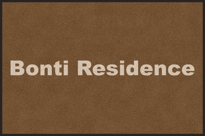 Bonti Residence 4 X 6 Rubber Backed Carpeted HD - The Personalized Doormats Company