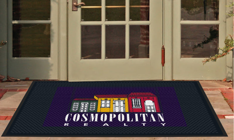 Cosmopolitan Realty 4 X 6 Rubber Scraper - The Personalized Doormats Company