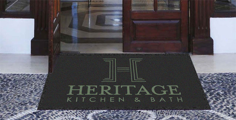 Heritage Kitchen & Bath 3 x 5 Waterhog Impressions - The Personalized Doormats Company