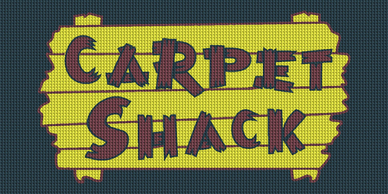 CARPET SHACK 4 X 8 Waterhog Inlay - The Personalized Doormats Company