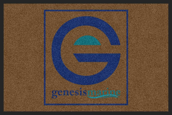 Genesis Marine § 3 X 5 Rubber Backed Carpeted HD - The Personalized Doormats Company