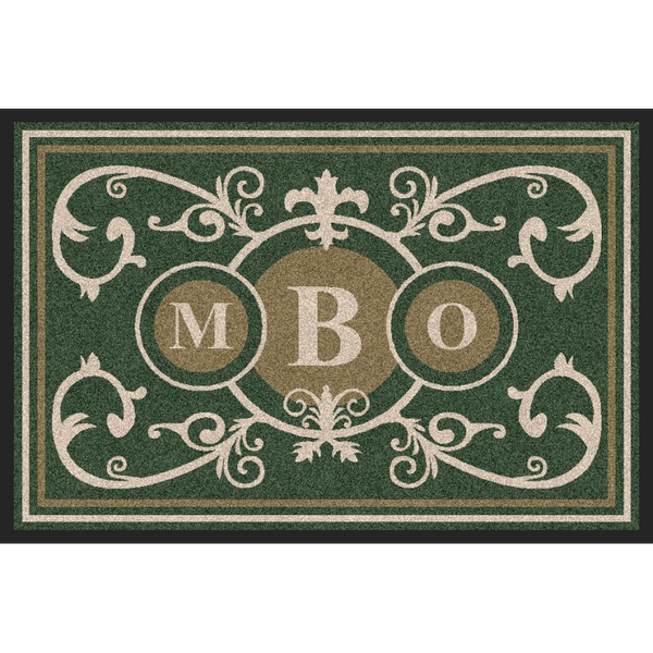 Estate Doormat Formal 3 Letter Monogrammed Navy Estate - The Personalized Doormats Company