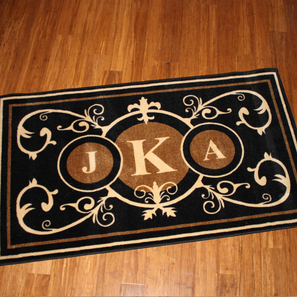 Edinburgh Estate Doormat Formal 3 Letter Monogrammed Estate - The Personalized Doormats Company
