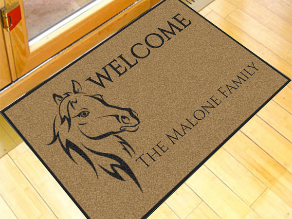 Horse Head Write Your Own 2' x 3' Doormat Write Your Own - The Personalized Doormats Company