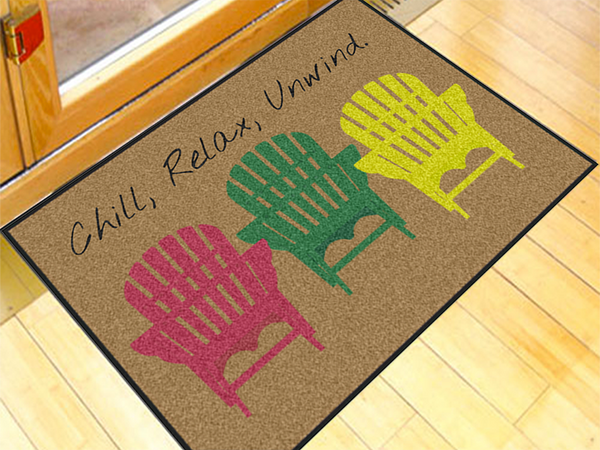 Relax Write Your Own 2' x 3' Doormat