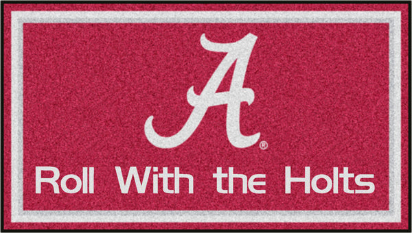 3' x 5' University Of Alabama Personalized Doormat or Floormat Personalized Sports Logo - The Personalized Doormats Company