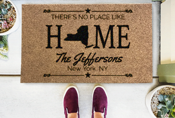 Home State Personalized Doormat Classic Coir or Duracoir - The Personalized Doormats Company
