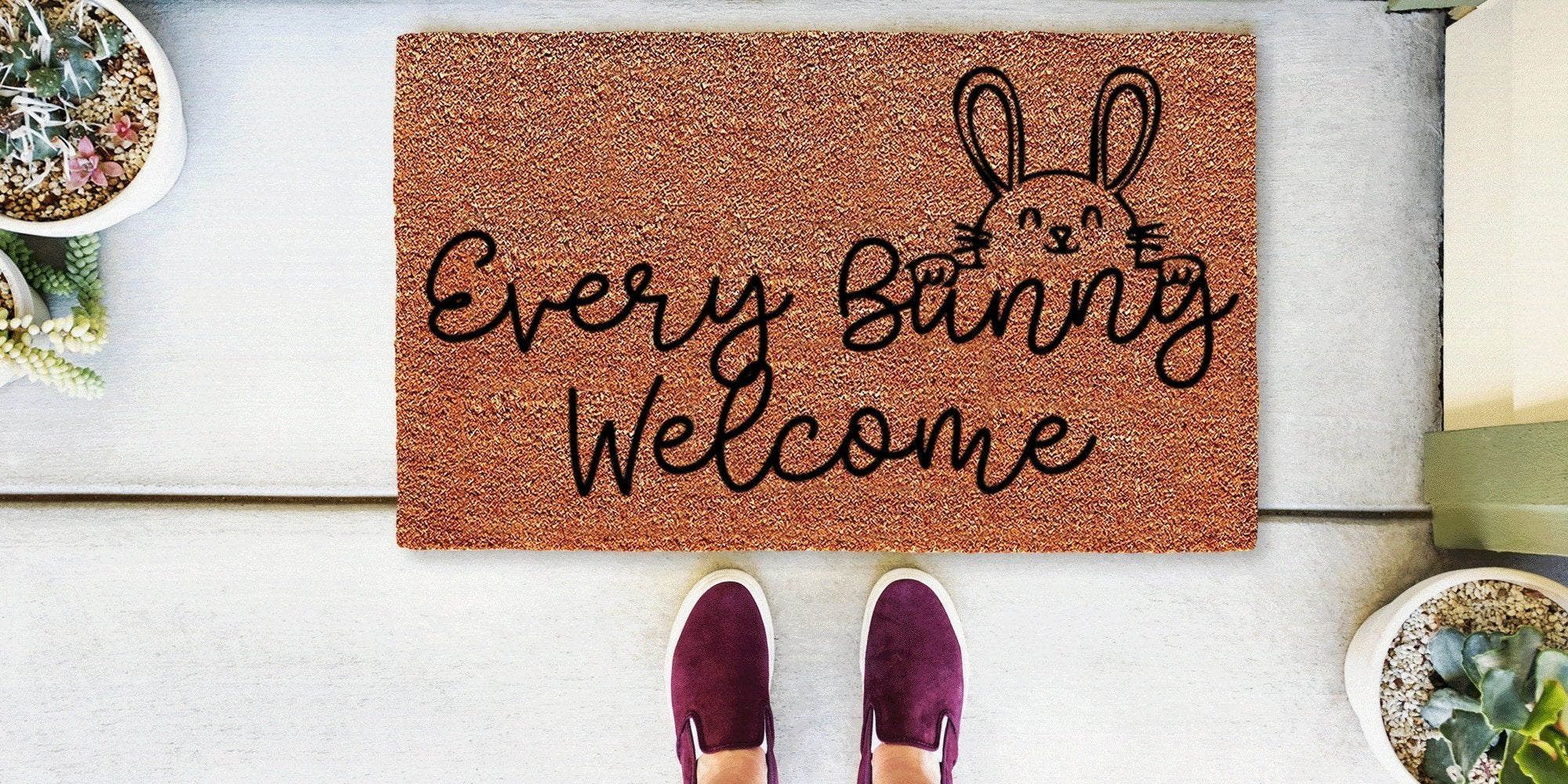 GEO Coordinate Doormat. Put your GEO coordinates on a personalized doormat.  Can't get more personal than that!