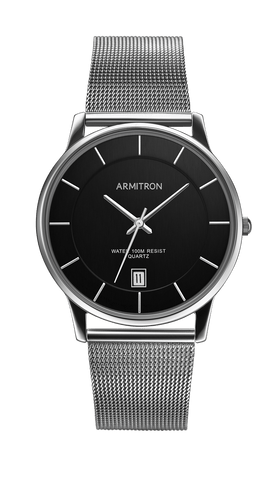 Stainless Steel Analog Mesh Bracelet Watch- 38.5MM - Armitron