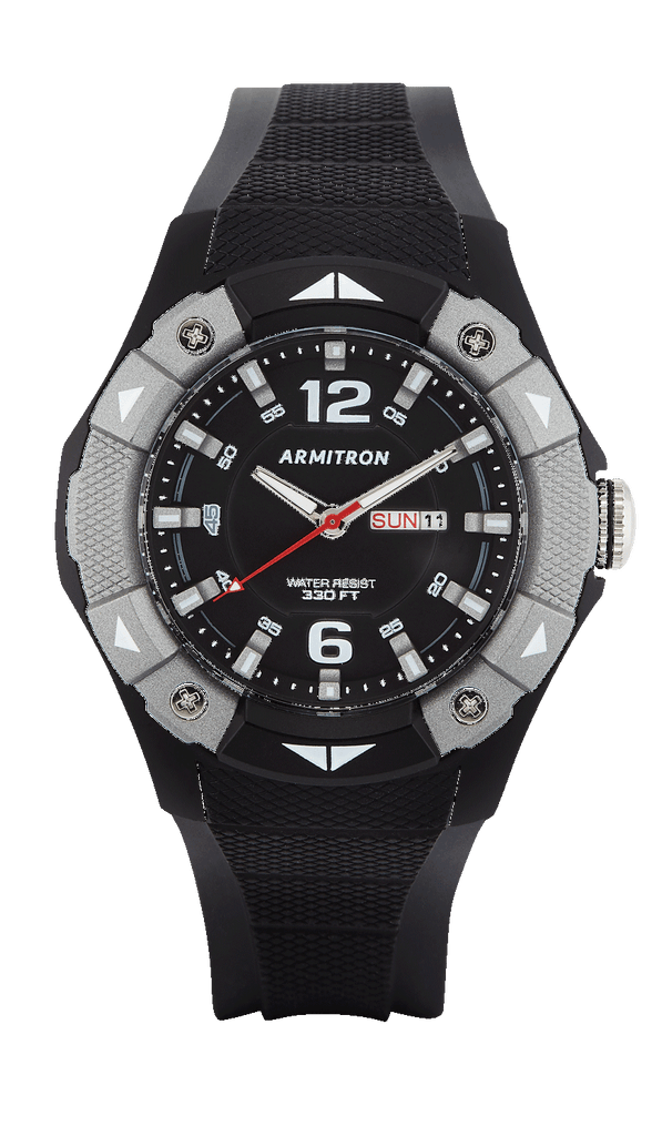 Black and Grey Analog Sport Watch with Strap- 50MM