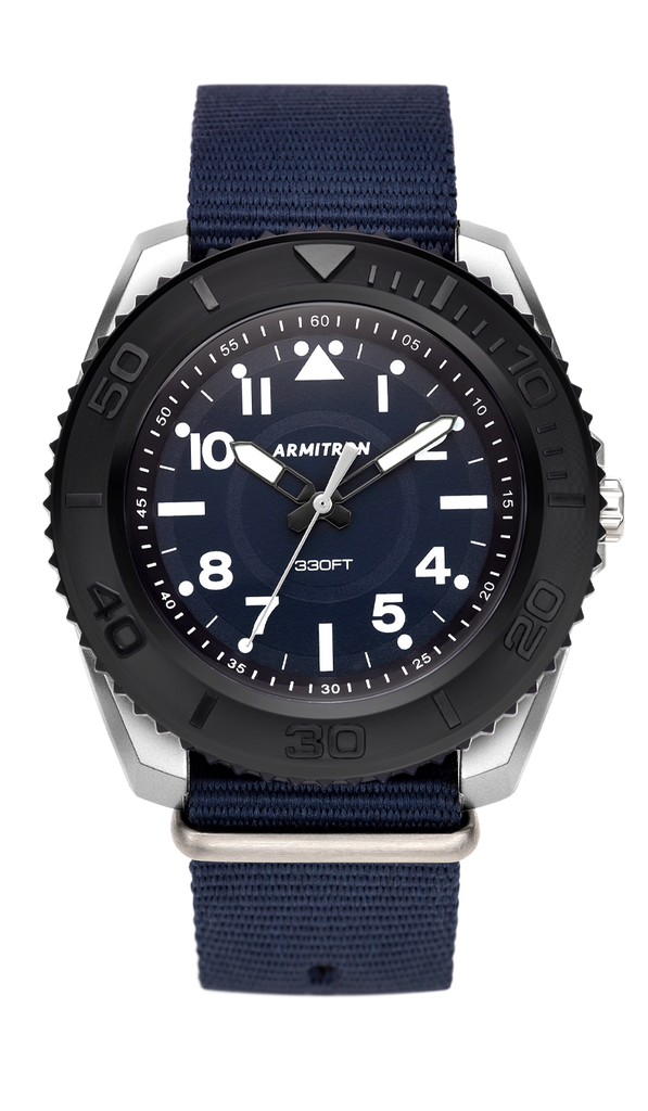 Analog Navy Blue Nylon Strap with Navy Blue Dial- 45MM