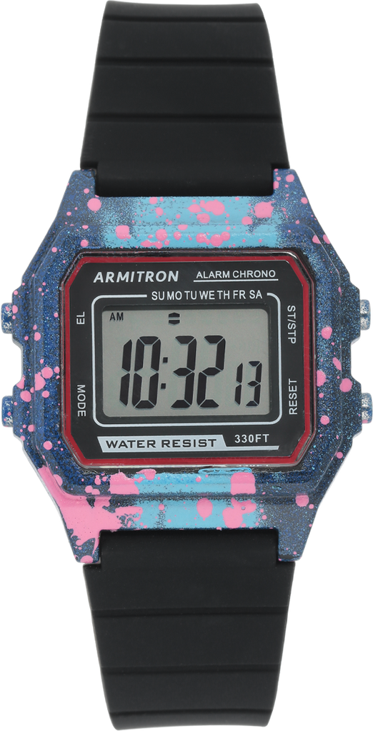 Slap Digi Black Graffiti Watch