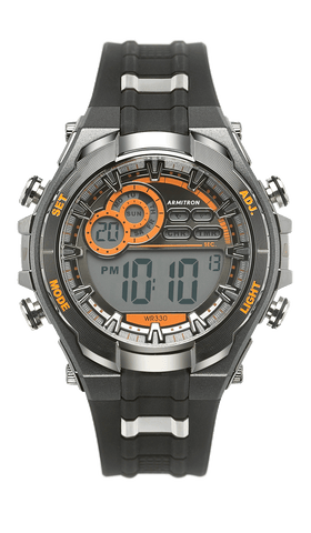 Digital Analog Watch with Resin Strap- 55.5MM