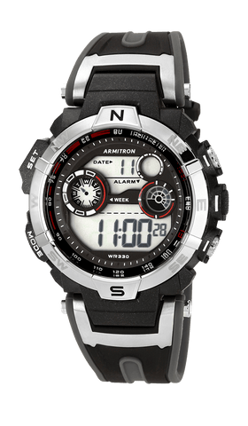 Black Analog-Digital Watch- 52MM