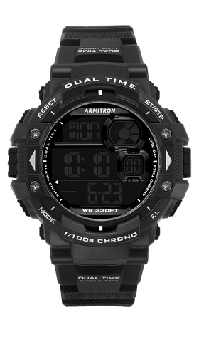 Black Digital Chronograph Sport Watch with Black Accents- 54MM / Black / 54MM