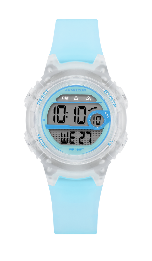 Digital Chronograph Translucent Resin Strap- 33.5MM