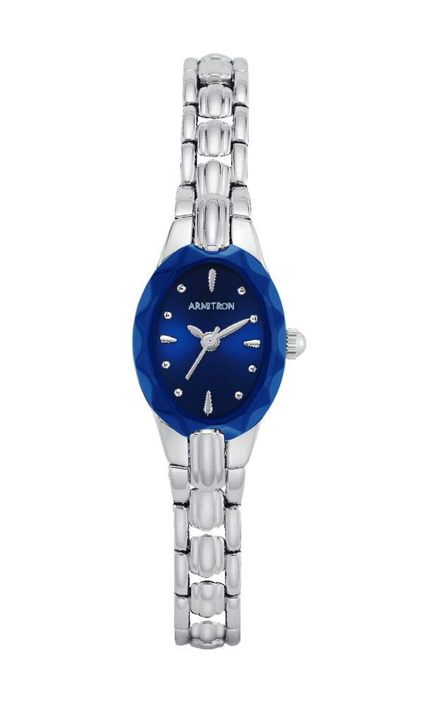 Bracelet Watch with Faceted Bezel- 19MM