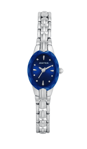 Stainless Steel Bracelet Watch with Blue Dial- 42.5MM