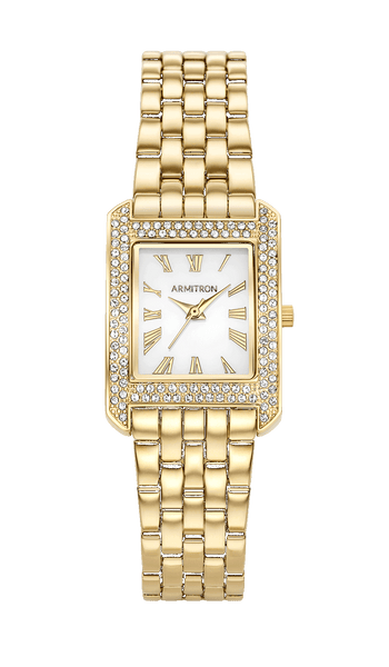 Square Dress Bracelet Watch with Swarovski Crystal Accents- 23MM x 31.5MM - Armitron