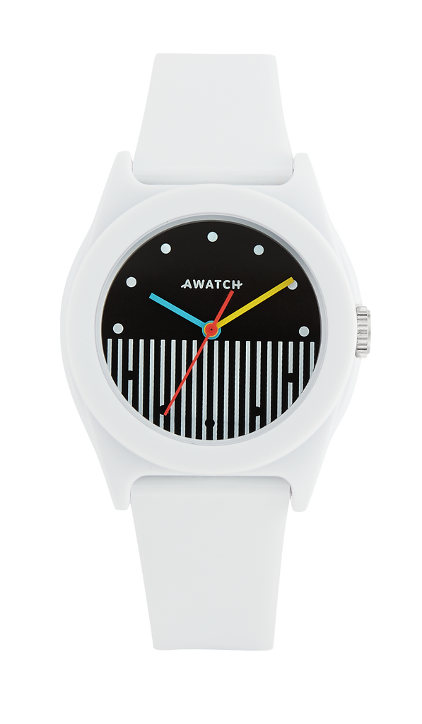 AWATCH Resin Strap Watch with Vertical Dial Design- 35.5MM