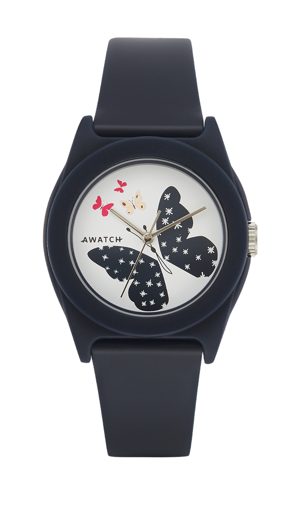 AWATCH Resin Strap Watch with Butterfly Dial Design- 35.5MM