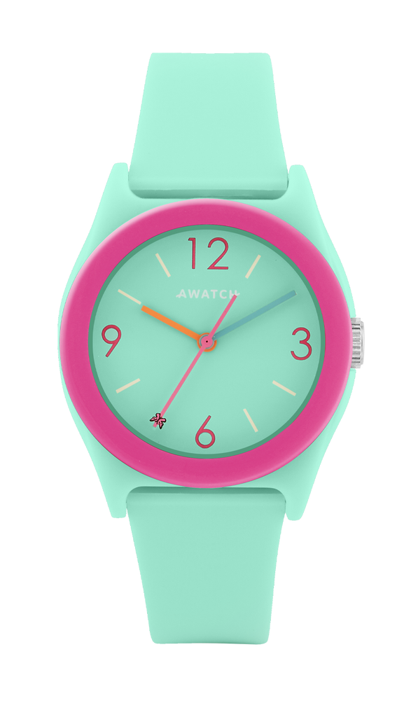 AWATCH Resin Strap Watch with Colorful Resin Bezel- 35.5MM