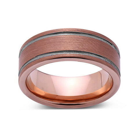 Rose Gold Tungsten Wedding Bands By Luxury Bands LA LUXURY BANDS LA