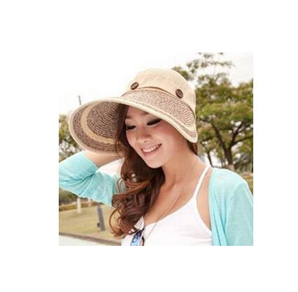 Women Summer Beach Sun Hat Straw