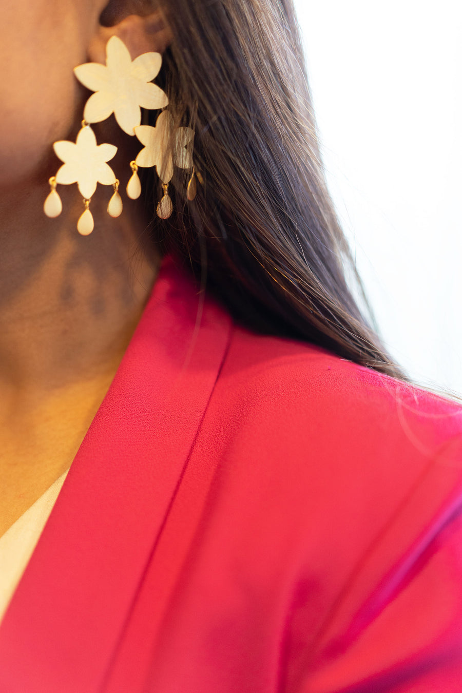 Flower layering Earring