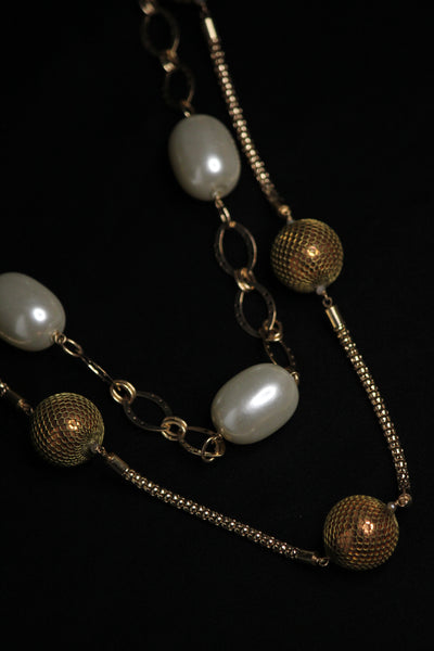 Gold Disco ball Necklace