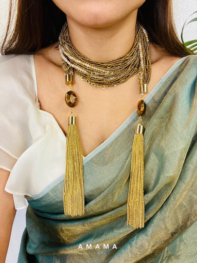 Gold Scarf Necklace