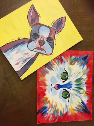 "January 17, 2019 Thurs., 7-9 pm, ""Paint Your Pet Fundraiser"" Public Wine & Paint Class in St. Louis"