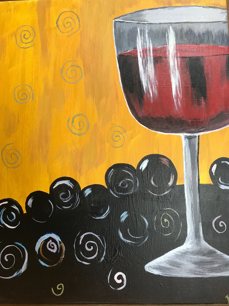 """Wine Glass"" Public Wine & Paint Class in St. Louis"