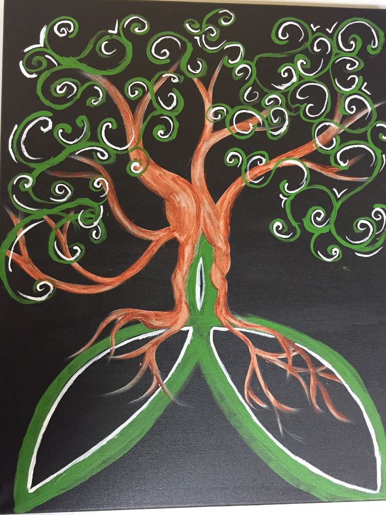"""Irish Tree of Life"" , Public Wine & Paint Class in St. Louis"
