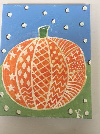 """Fun Pumpkin"" Public Kids Paint Class in St. Louis"