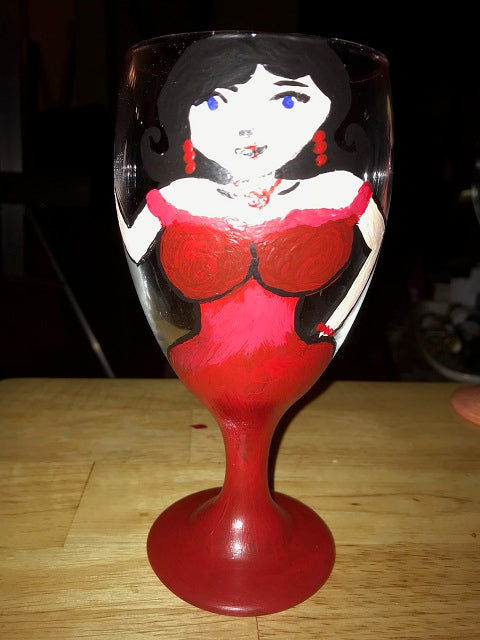 """Painted Wine Glasses"" Public Wine & Paint Class in St. Louis / Maryland Heights"
