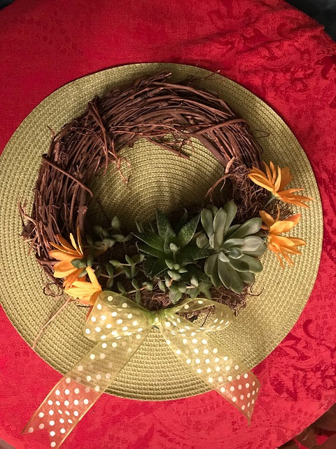 """Spring Wreath"" Public Wine & Craft Class in St. Louis / Maryland Heights"