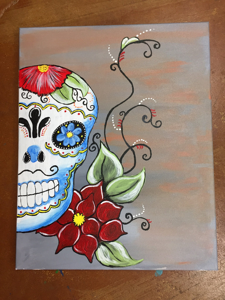 """Day of the Dead"" Public Wine & Paint Class in St. Louis"