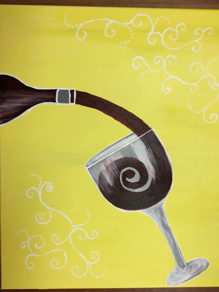 """Wine Swirl""  Paint Night, Public Wine & Paint Class in St. Louis"