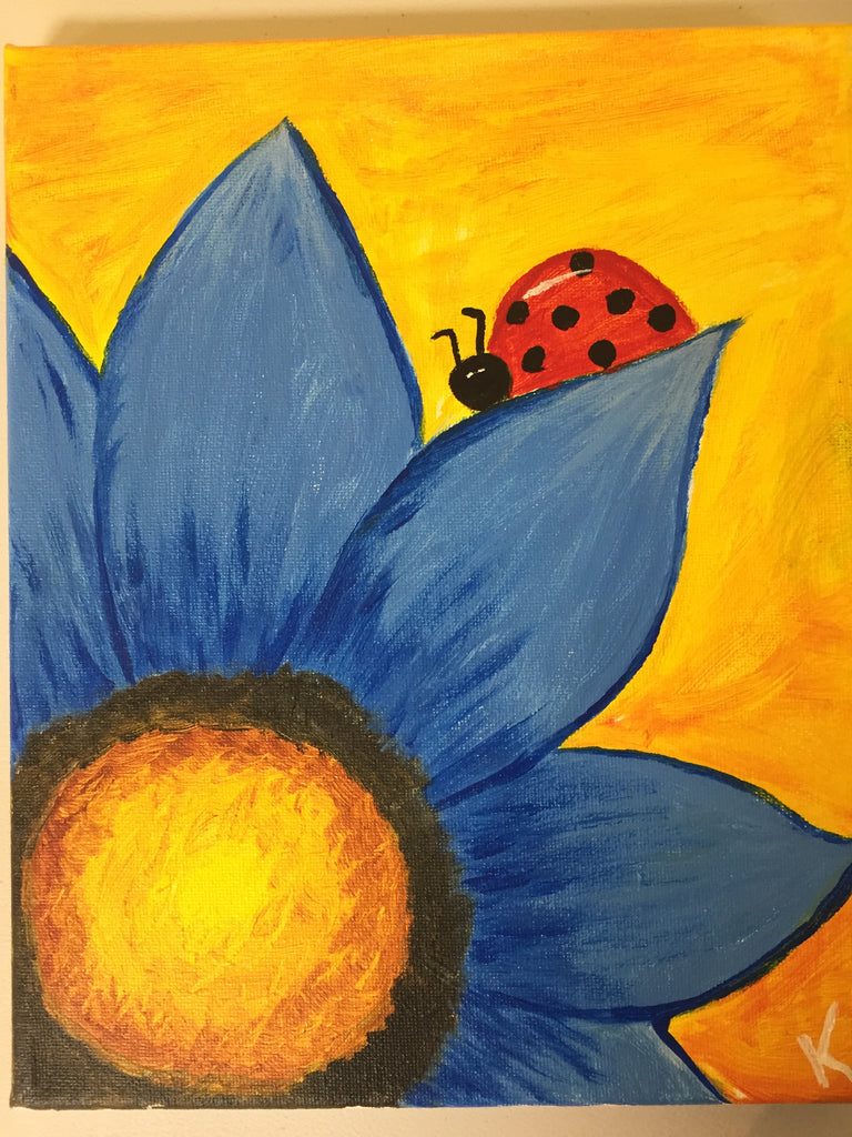 """Ladybug"" Public Kids Paint Class in St. Louis"